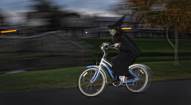 The Wicked Witch of West spotted in Baker Park last evening.....