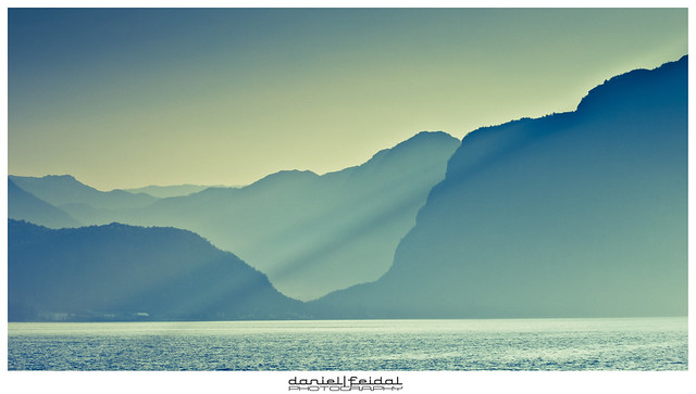 Visions of Lysefjord.Rays of light