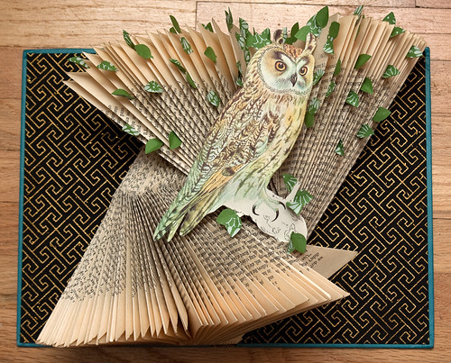 Altered Books- Long eared owl