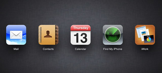 iCloud landing page