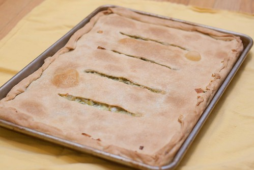 Leek and Celery Pie--fresh out of the oven