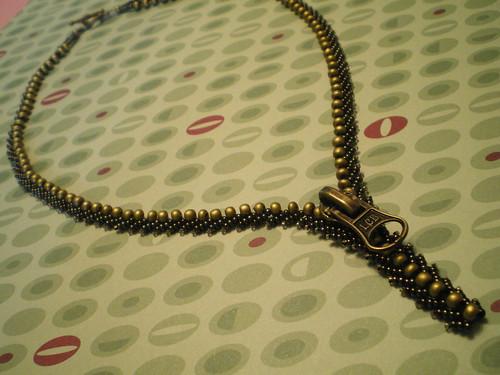 Unstuck Zipper Necklace