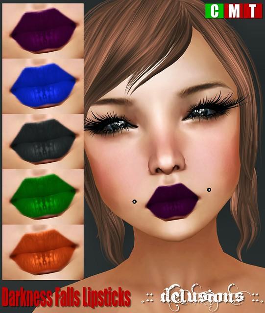 .:: Delusions ::. Darkness Falls Lipsticks