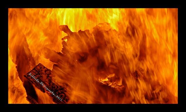 #316/365 Fire: Devil's Face