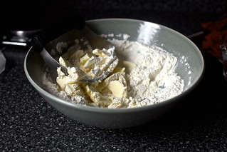 butter into flour