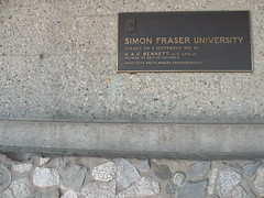 Simon Fraser University plaque