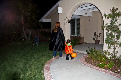 trick or treating at our house