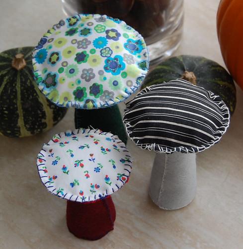Studio Paars - felt and fabric toadstools