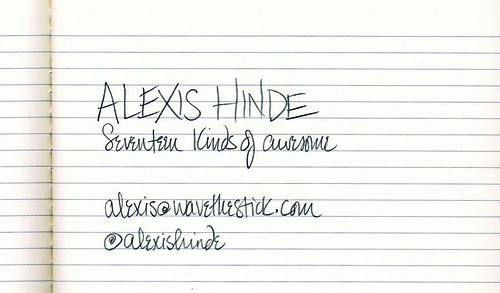 business card front