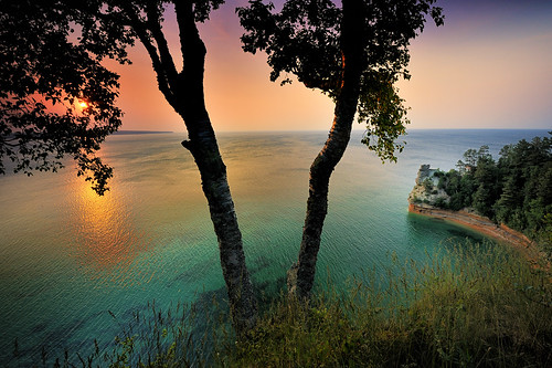 """Miners Castle Sunset"" - Pictured Rocks National Lakeshore - Munising , Michigan"