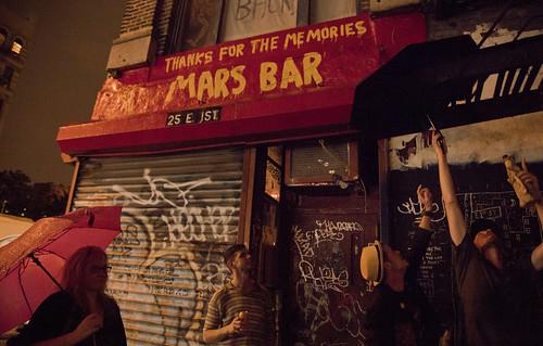 Mars Bar umbrellas