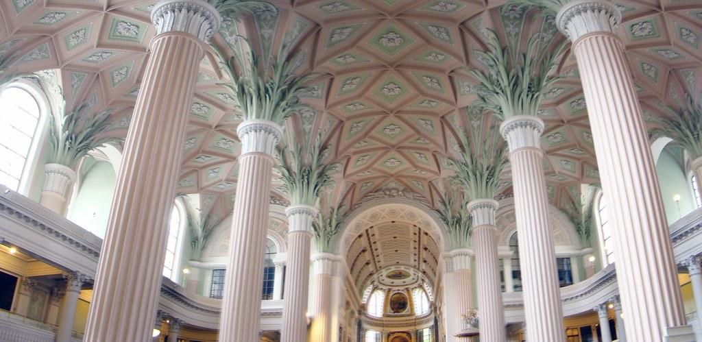 Leipzig boveda interior Iglesia San Nicolas Alemania 04