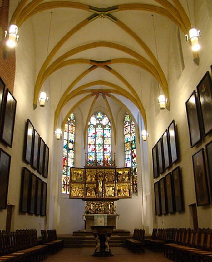 Leipzig Coro abside interior Iglesia Santo Tomas Alemania