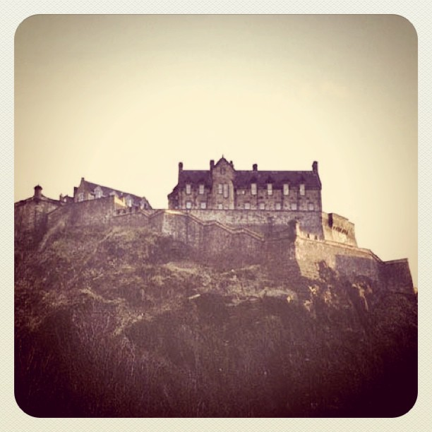 The fortified mountain top of Sterling Castle in #scotland