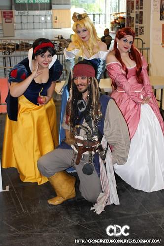 Con un simpatico Jack Sparrow francés