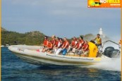 Adrenaline Boat trip in the bay of Alcudia
