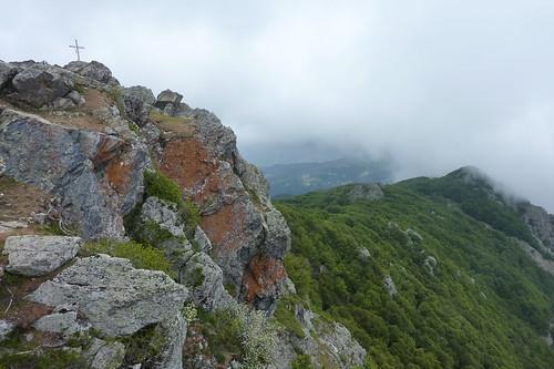 Géocacheurs au San Petrone en Corse