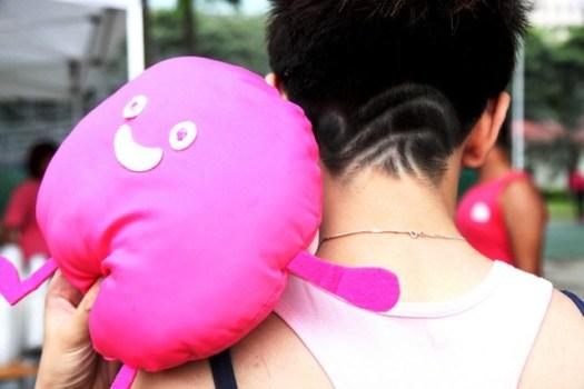 """PinkDot Plushie & Sharon Slug's """"carved hair"""""""