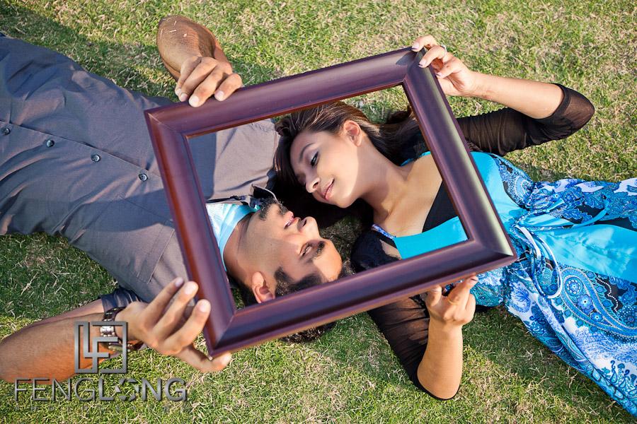 Naz + Amir Engagement Session | Centennial Olympic Park | Atlanta Indian Wedding Photographer