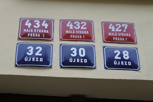 Numéros de maisons, Prague.