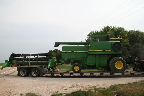 new combine arrives!