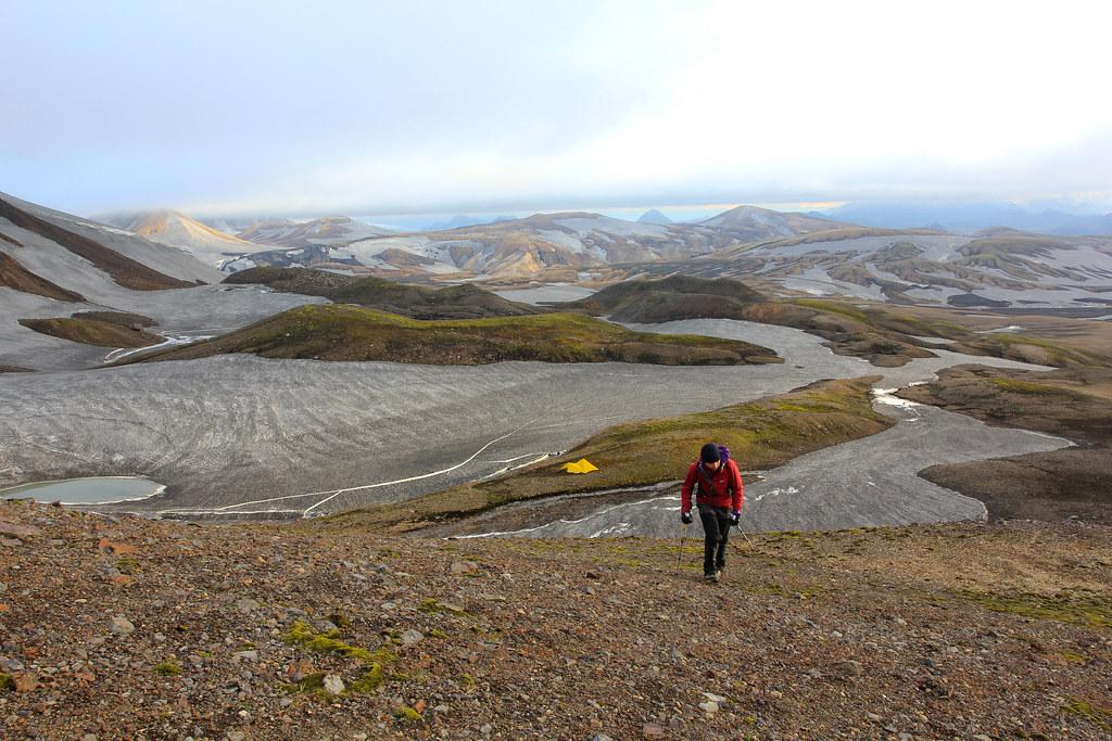 Leaving the tarp for a side exploration, Fjallabak Nature Reserve, Iceland
