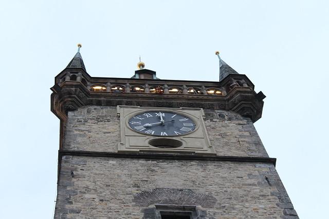 L'heure, sonnée depuis la Tour de l'Orloj, Prague