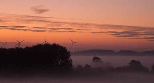 Petsoe Wind Turbines at Dawn