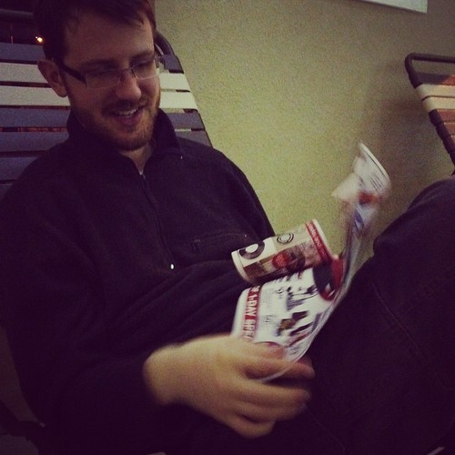 Craig reading Black Friday ads