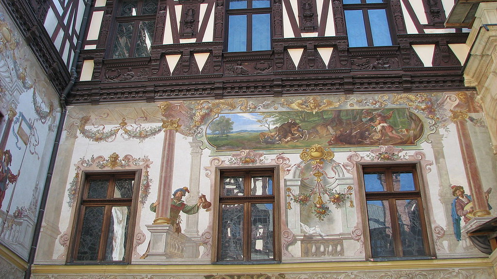 Wall art, Peles Castle, Romania