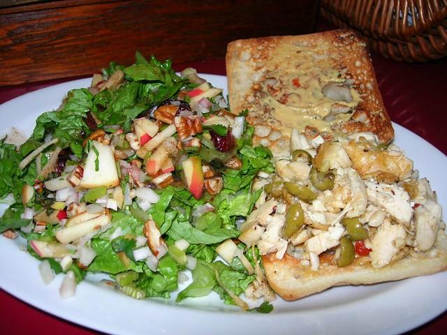 Sauteed Chicken Sandwich & Chop Salad