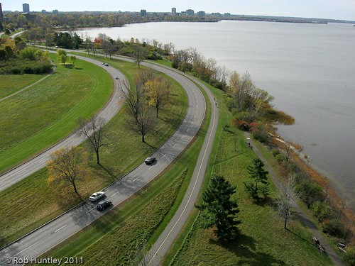 Ottawa River Parkway Looking West towards Westboro Beach, Ottawa, Ontario, Canada.