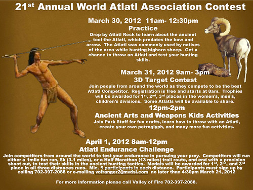 21th Annual World Atlatl Association Contest