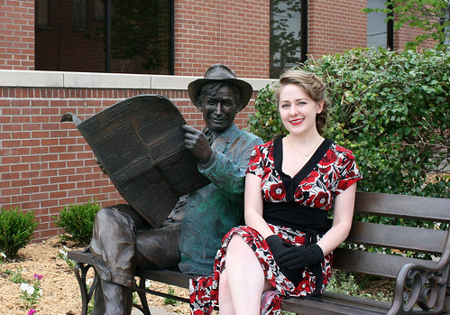 Will Rogers & Me on Route 66 in Claremore, OK.