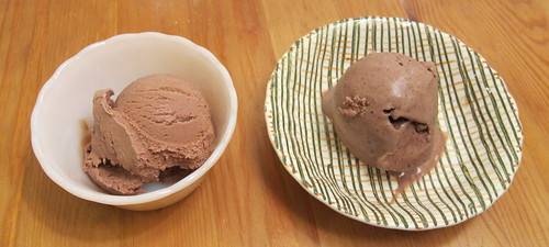 milk chocolate frozen yogurt and ice cream