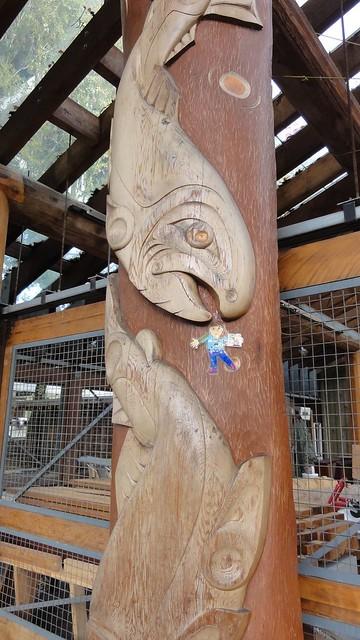 Flat K with totem salmon