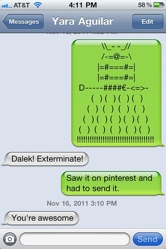 Happy Thing: Sending Nerdy Texts