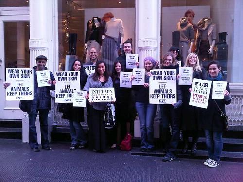 Intermix Anti-Fur Protest 11/19/11