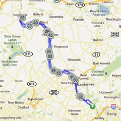 wc-17. Bike Route Map. Washington Crossing State Park.