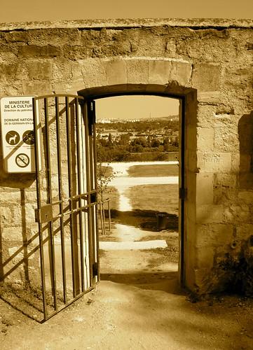 Porte de la terrasse