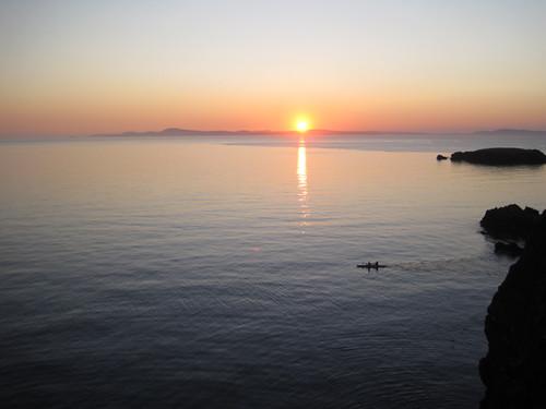 Sunset at Rosario Beach