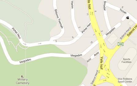Yefe Nof Map