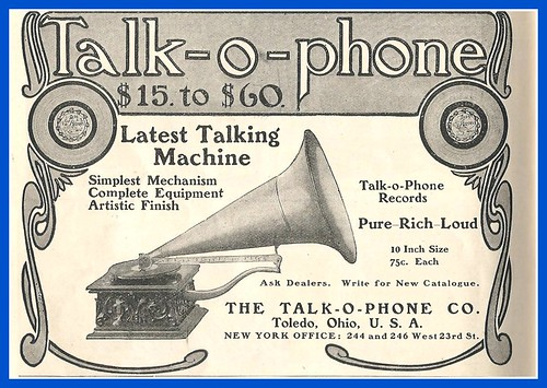1904, Talk-o-Phone Talking machine