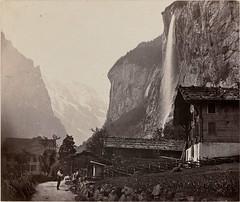 Le Staubbach a Lauterbrunnen, 1860-70, by Adolphe Braun