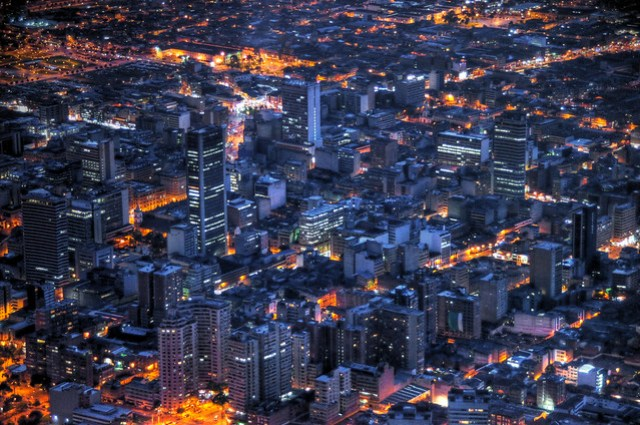 bogota at night