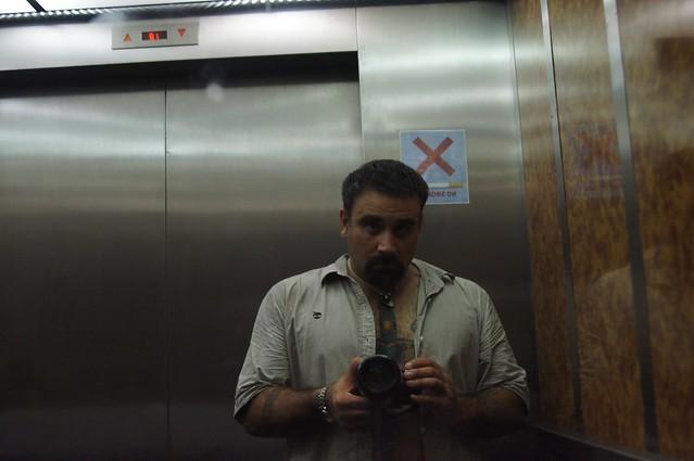 Drunk in a North Korean Elevator