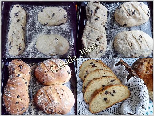 zeytinli ekmek yapımı