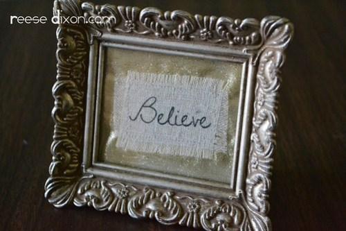 Believe Frame Step 6