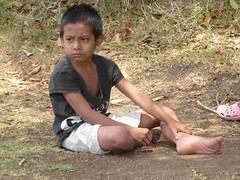 Trekking: a village boy in natural peaceful nidra #2