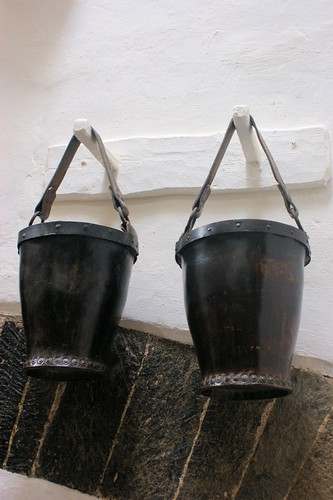 Late 18th century leather buckets